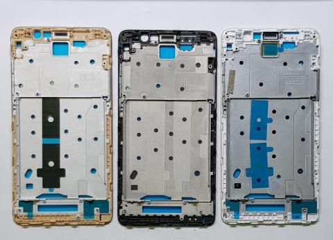 Средняя часть корпуса (рамка) Xiaomi Redmi Note 3, золото
